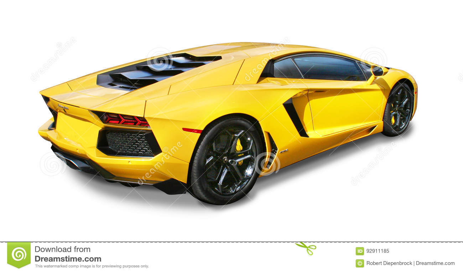 Lamborgini Aventador Supercar- που απομονώνεται