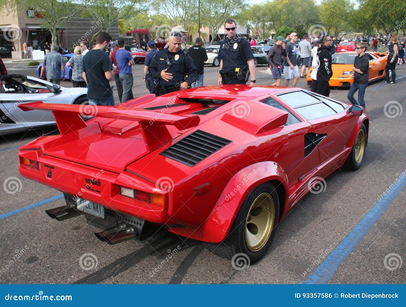 Lamborghini Countach Admirers Editorial Photo Image Of Italian