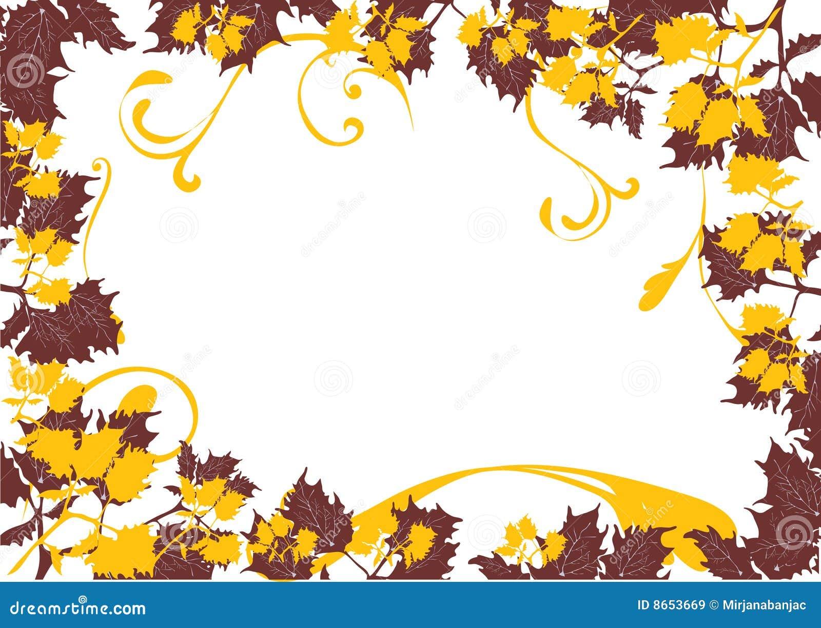 Lame de carte d automne