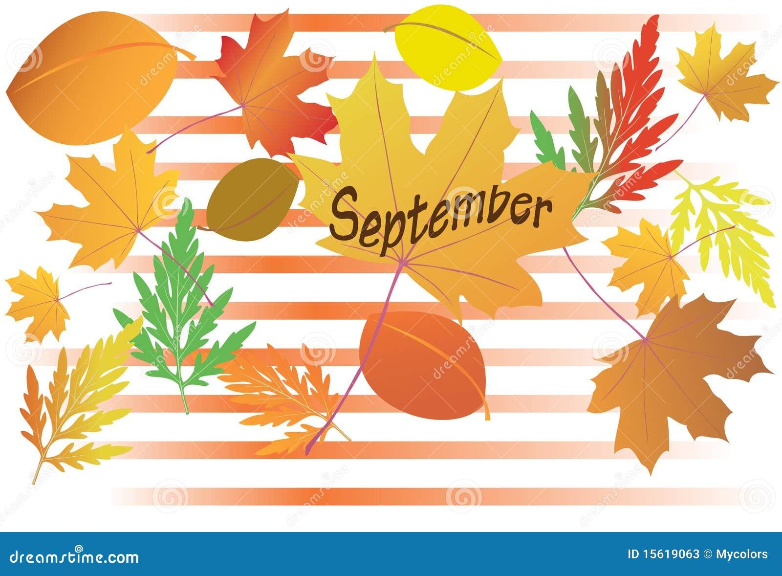 lames d 39 automne mois de septembre illustration de vecteur illustration du figure vert 15619063. Black Bedroom Furniture Sets. Home Design Ideas