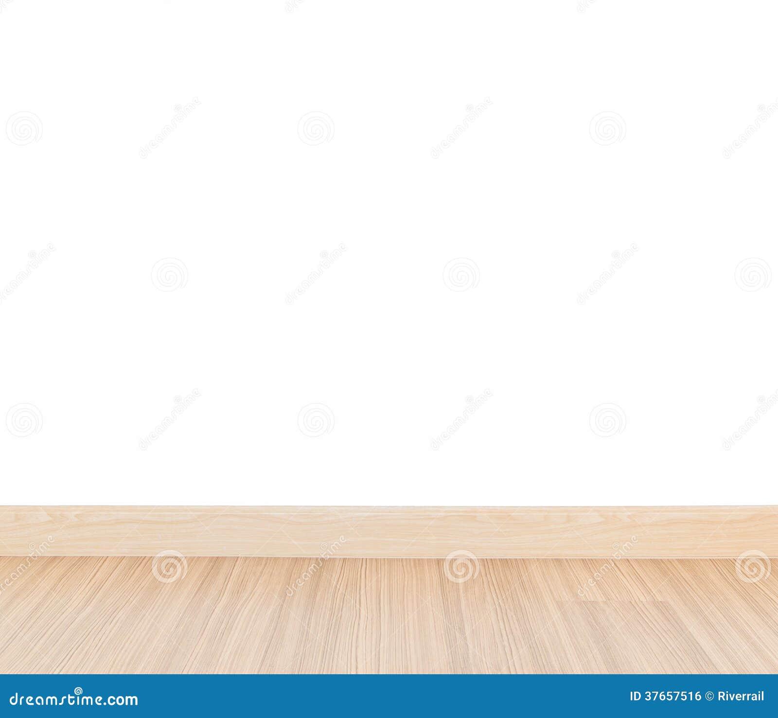 Laminatboden und weiße Wand