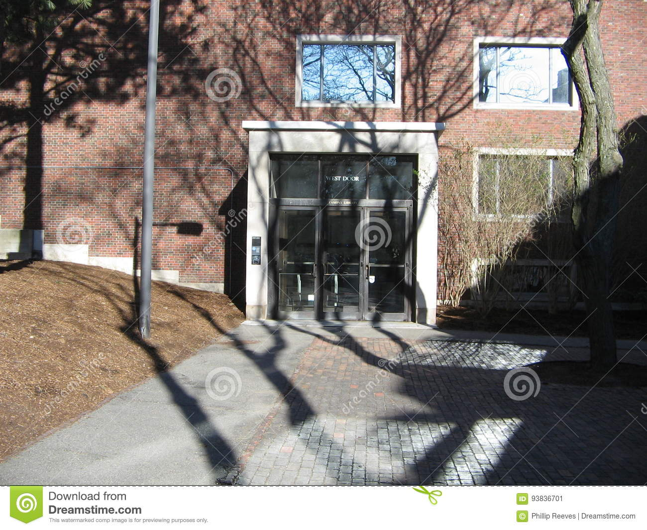Outside View Of The West Door Lamont Library At Harvard University Inside Yard In Square Cambridge Massachusetts USA