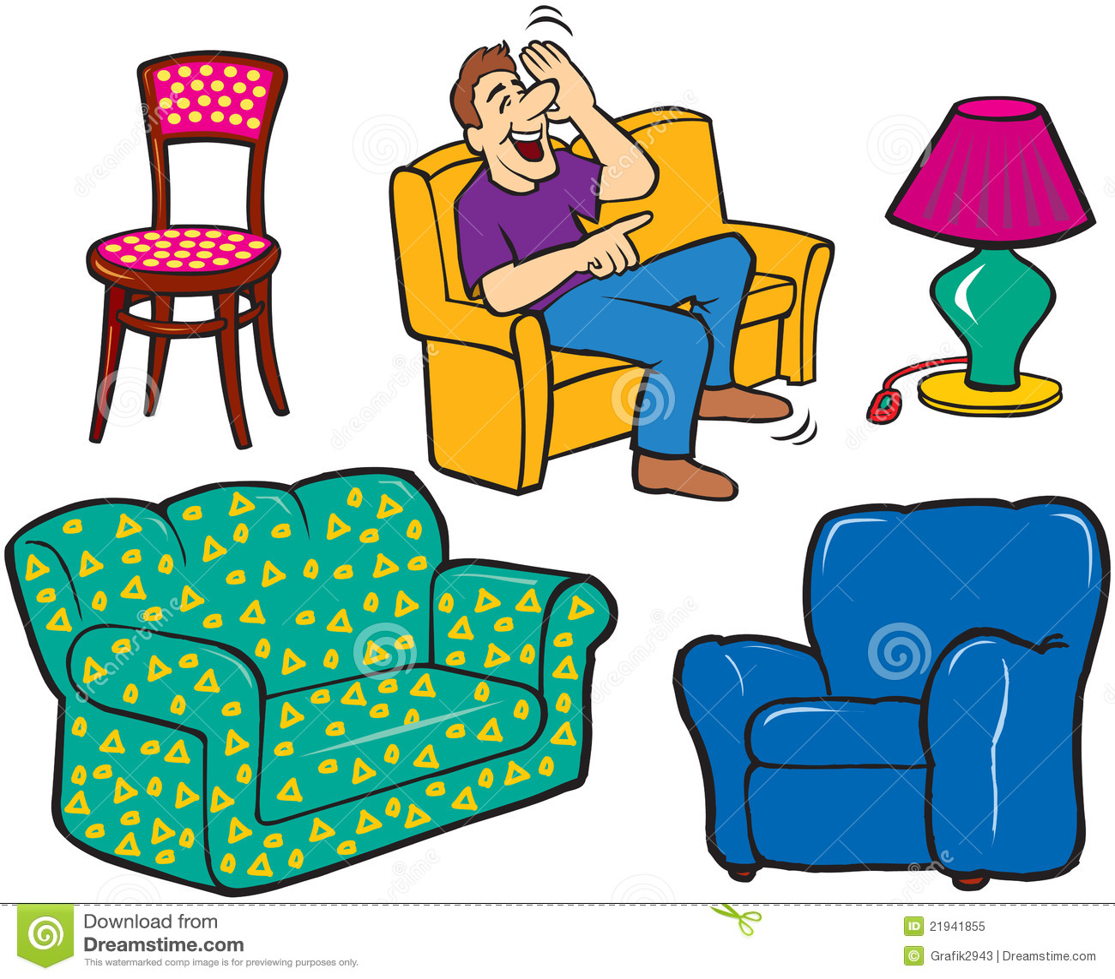 Lamp Armchair Sofa Chair Royalty Free Stock Photo