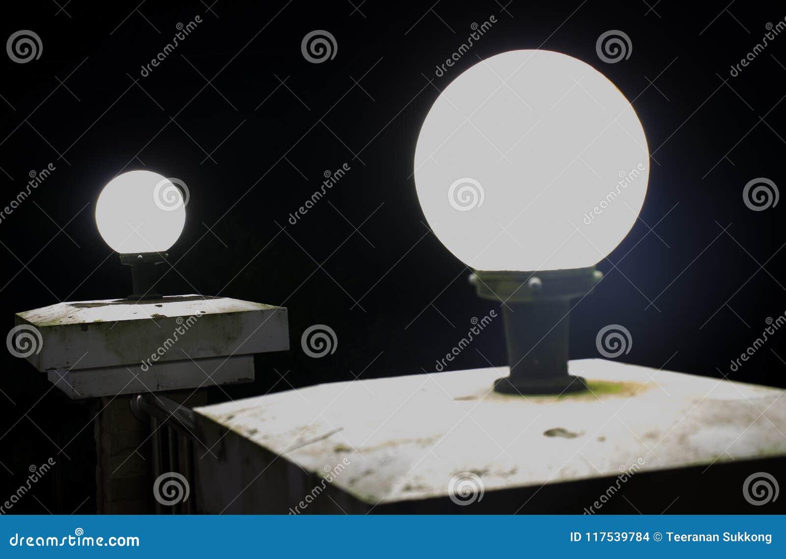 Lamp bij nacht