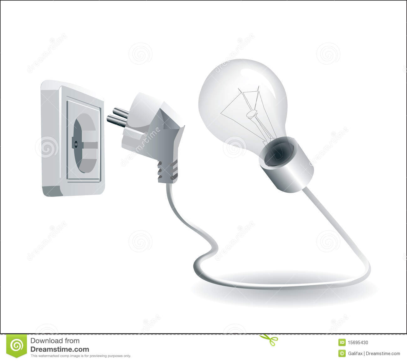 Lamp And Electric Plug And Socket Stock Vector - Image ...