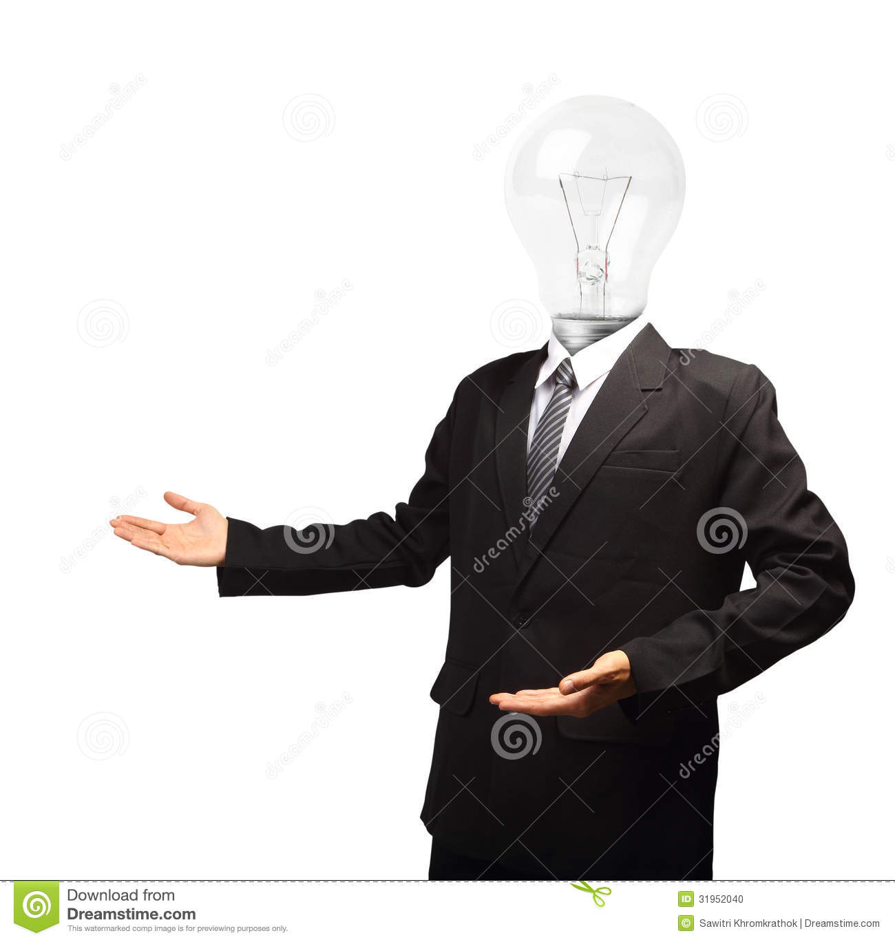 Businessman With Open Hand Palm Royalty Free Stock