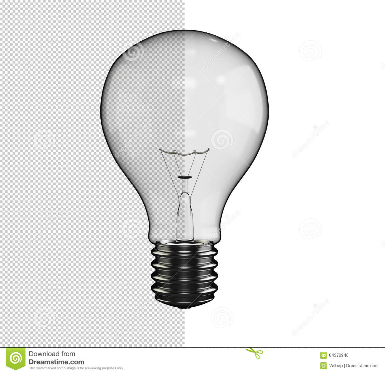 Lamp Light Bulb With Alpha Channel Transparent Background Stock