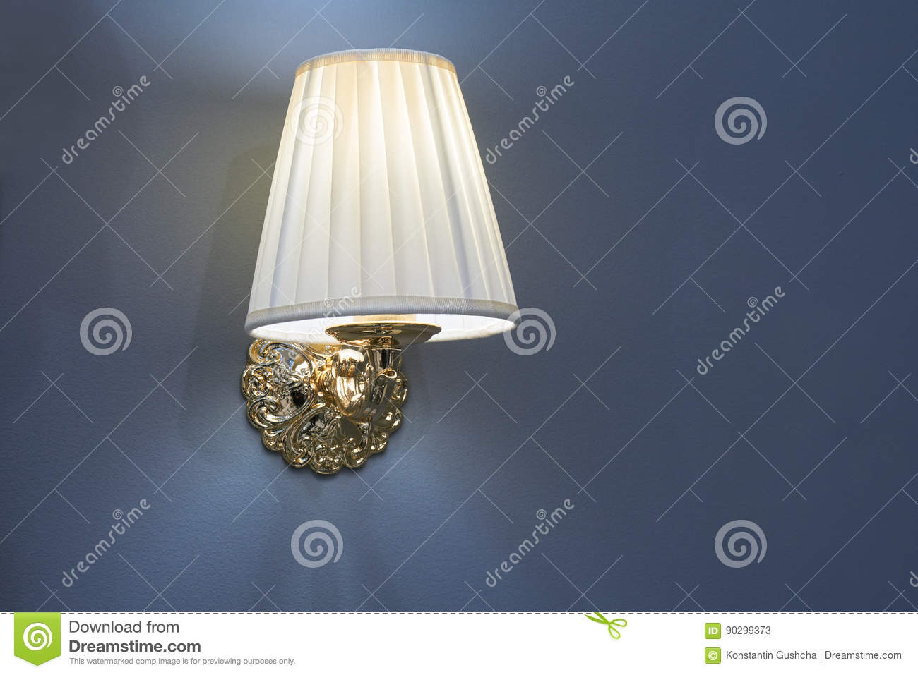 Lamp mounted on the wall