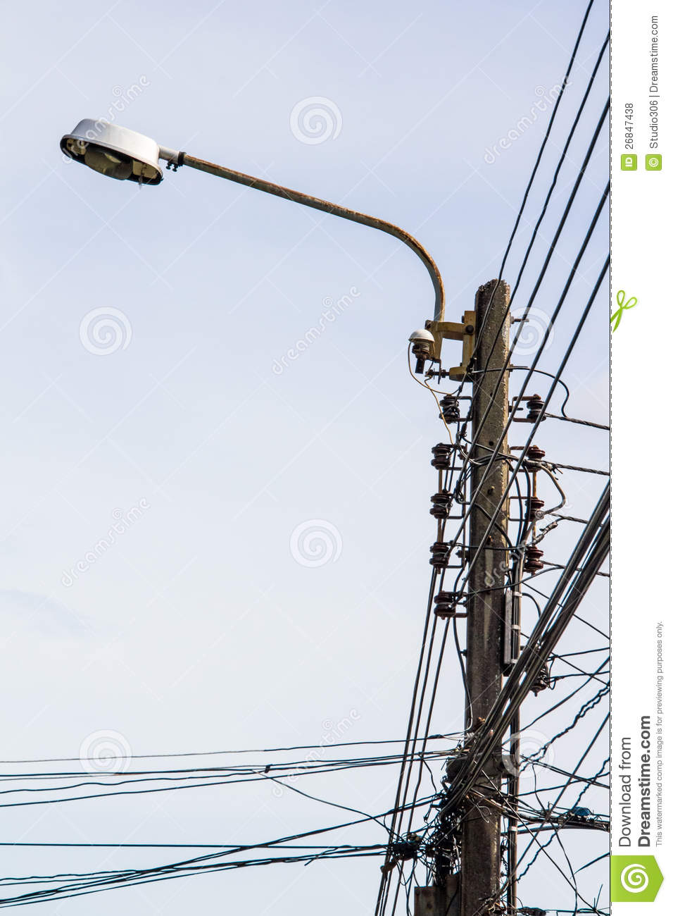 Lamp Post Electricity Royalty Free Stock Photos - Image: 26847438