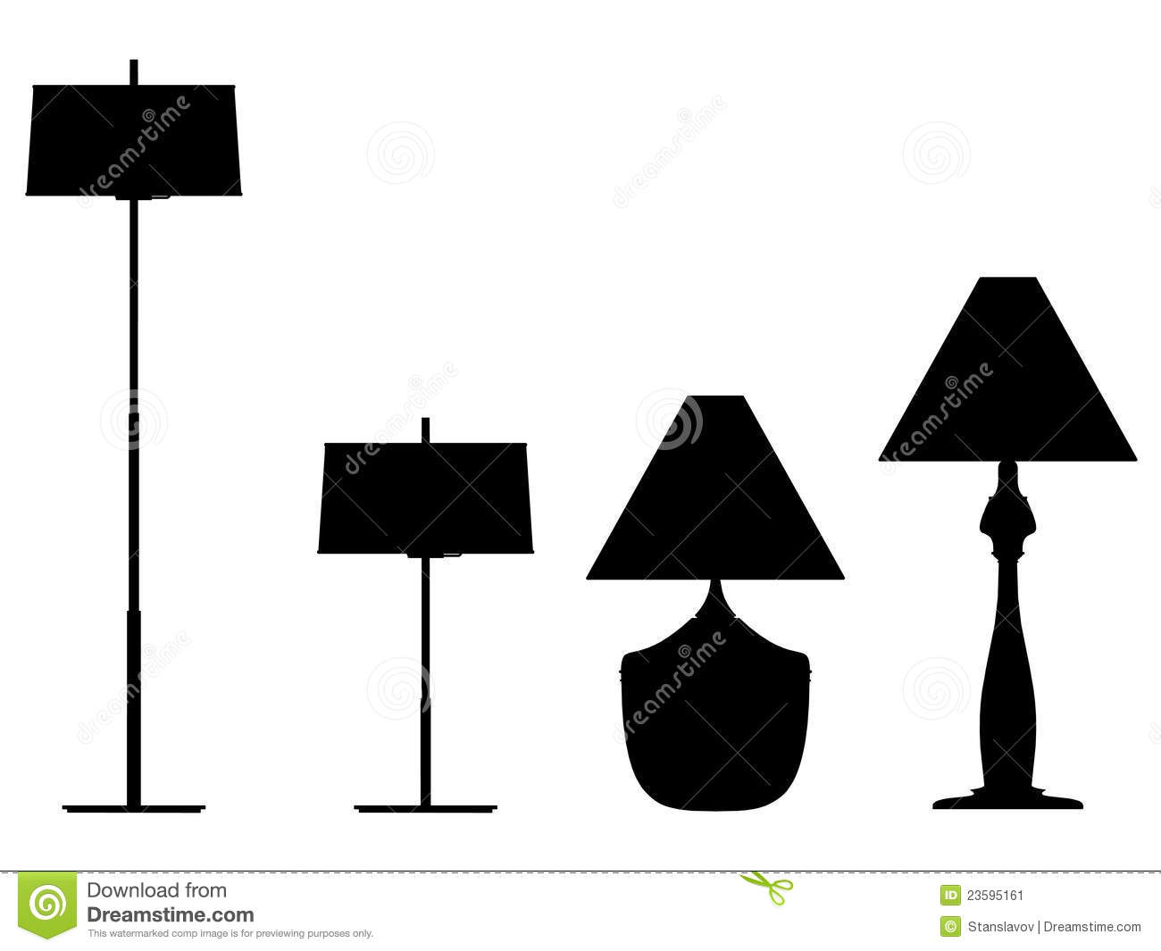 Lamp silhouette outline stock illustration. Image of room - 23595161