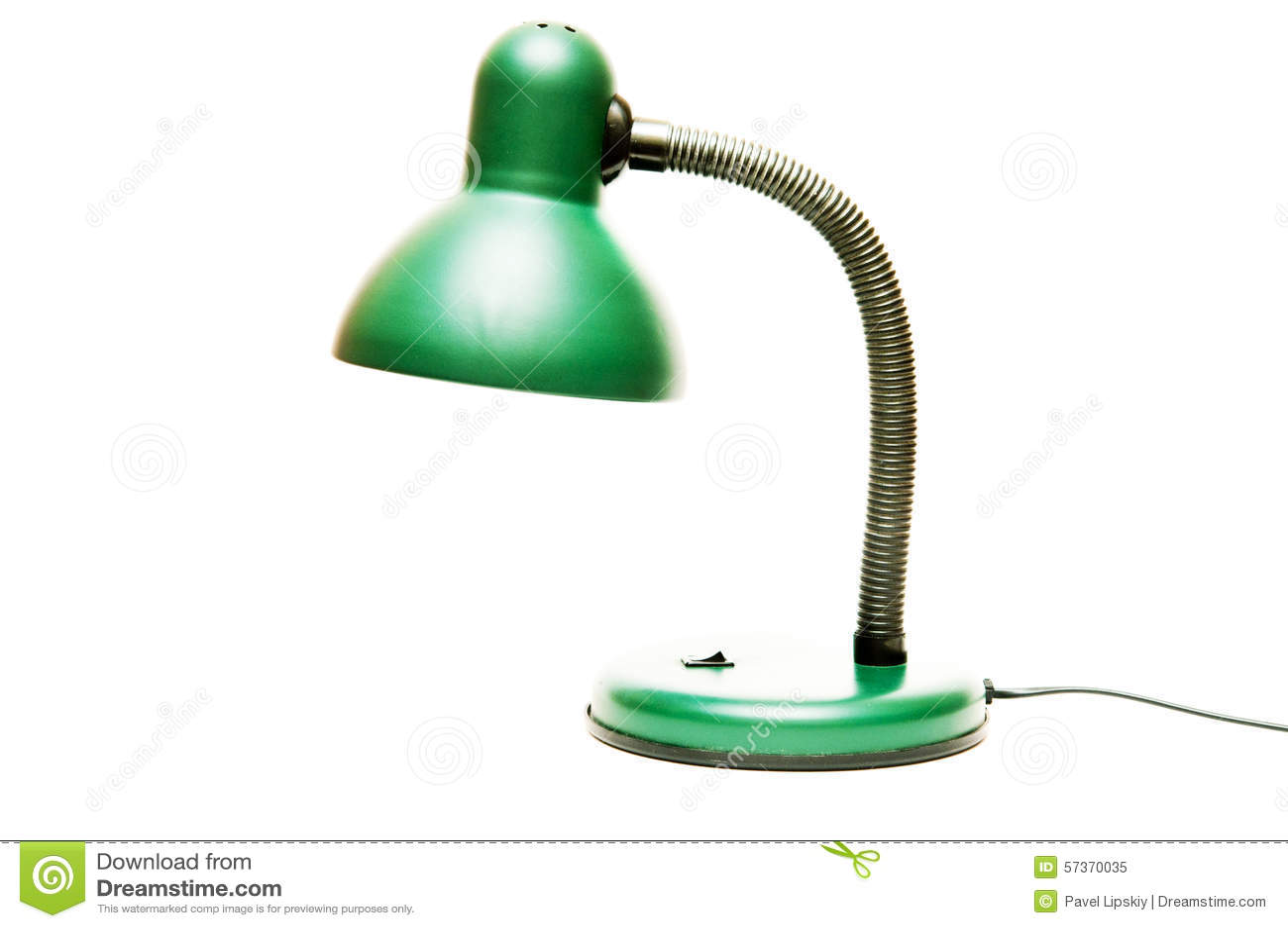 lampada da tavolo verde immagine stock immagine di