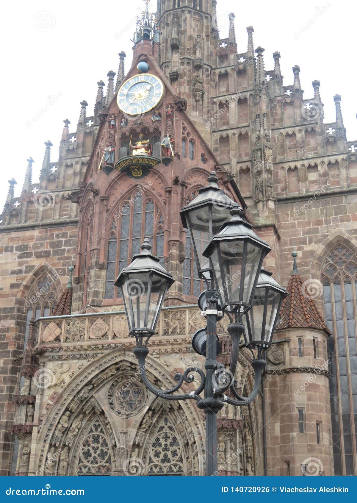 Lampada di via a Norimberga, Germania