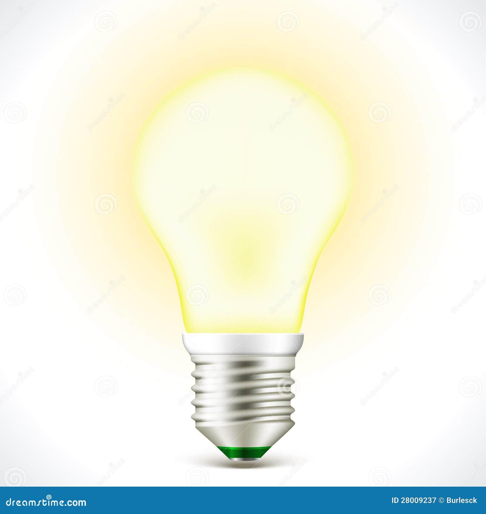 foto lampadina : ... da Diritti: Lampada economizzatrice d energia accesa della lampadina