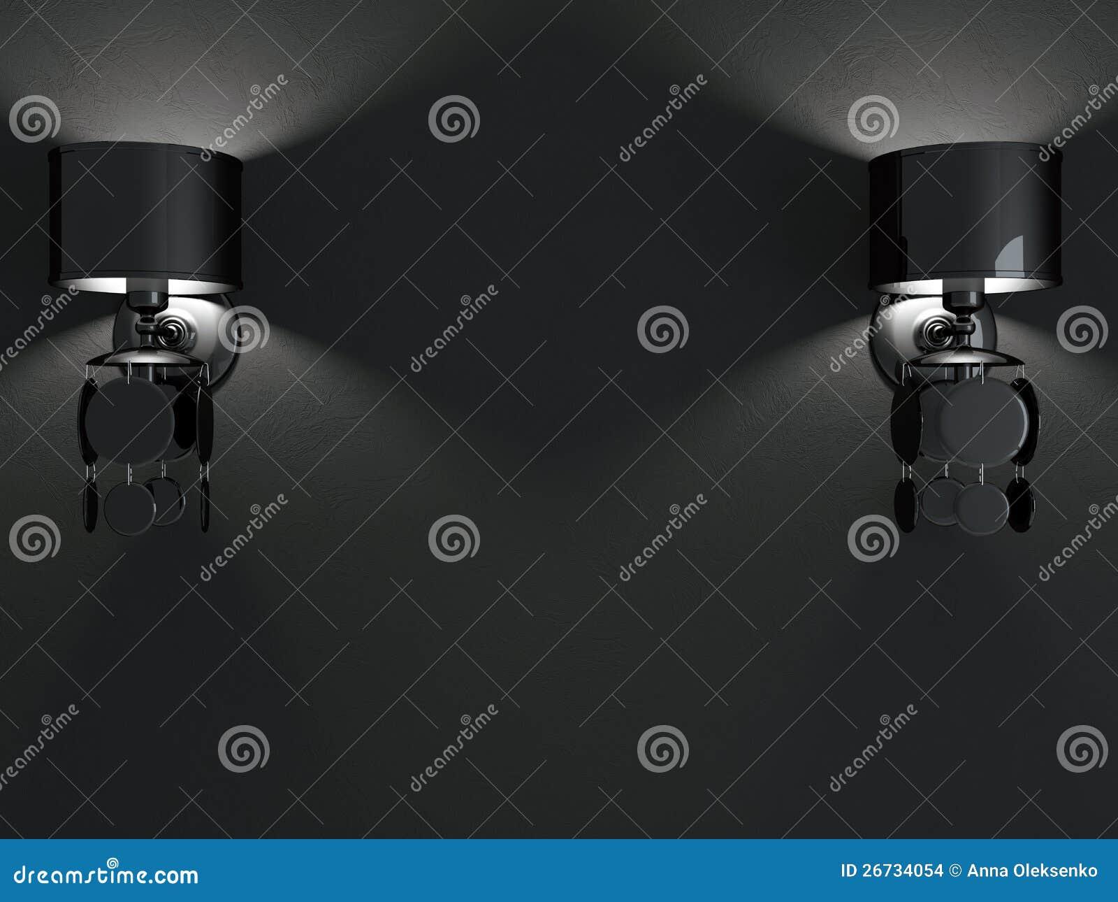 Lampade da parete nere moderne. immagini stock   immagine: 26734054