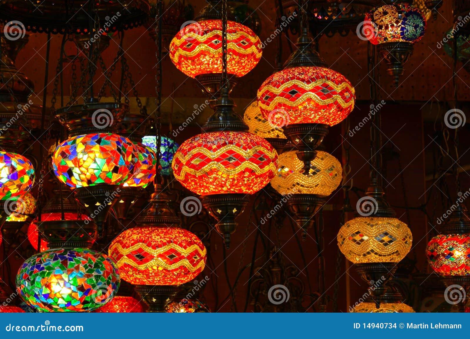 Lampade In Vetro Colorate : Lampade di vetro turche del mosaico fotografia stock immagine di