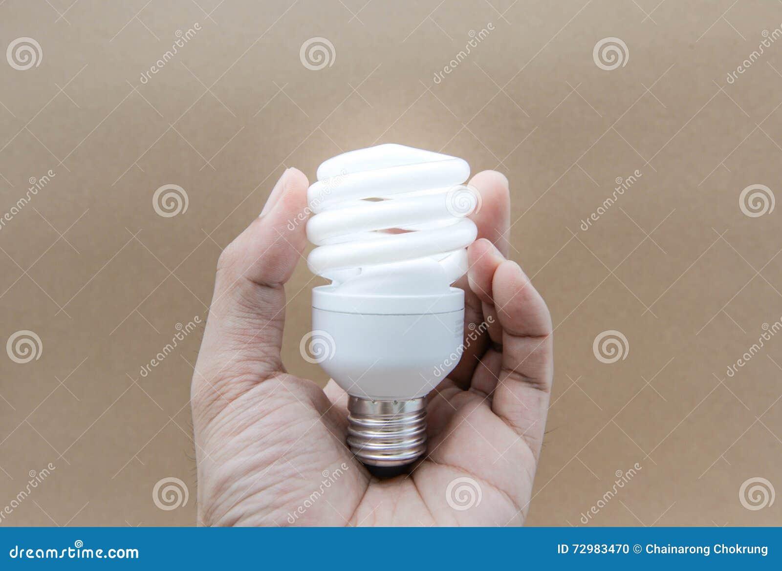 Lampade fluorescenti compatte con illuminazione fotografia stock