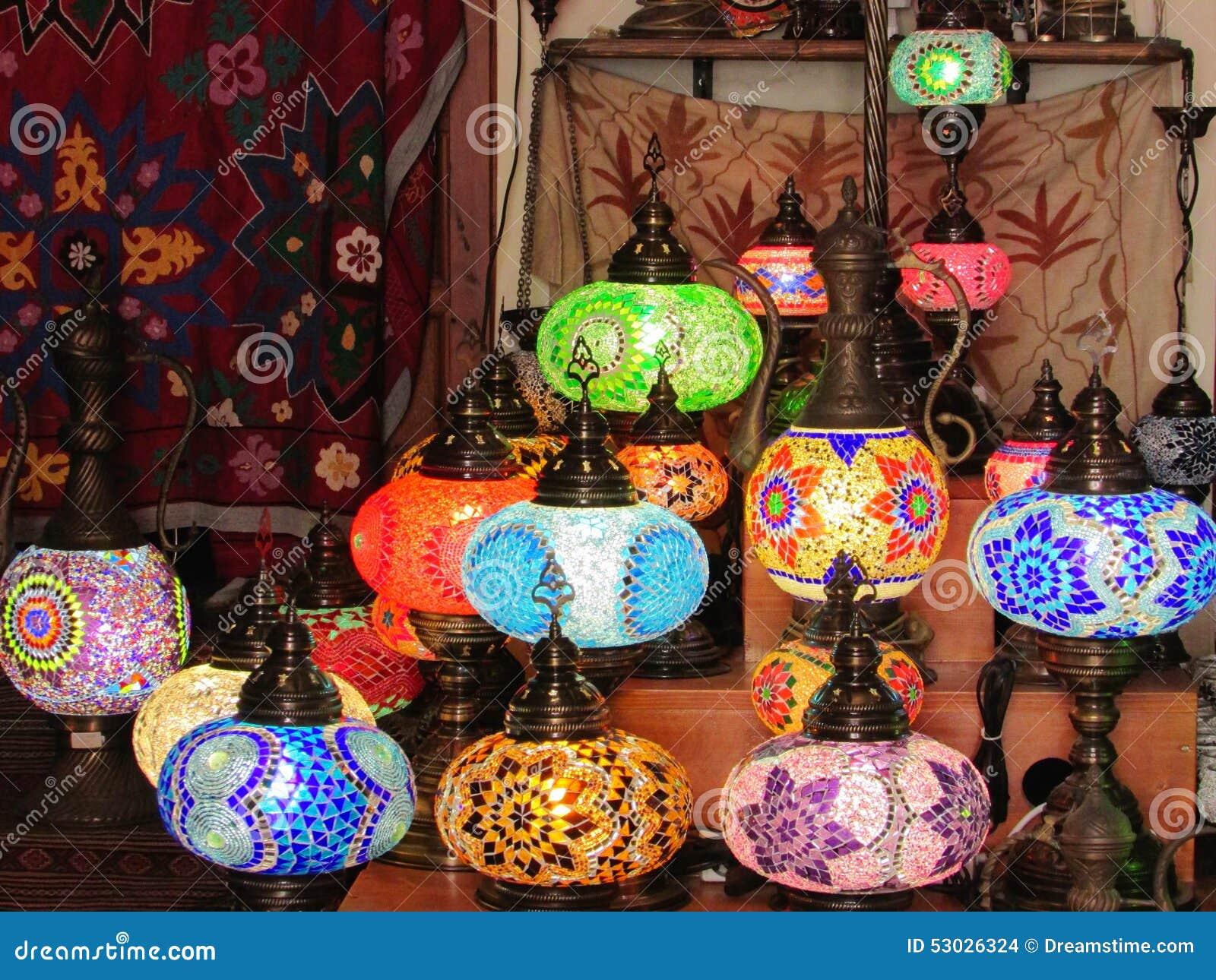 Lampade Orientali Del Mosaico Fotografia Stock Immagine Di Lampade