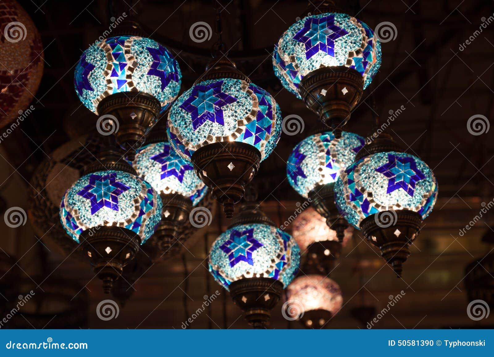 Lampade Orientali Fatte A Mano Tradizionali Fotografia Stock