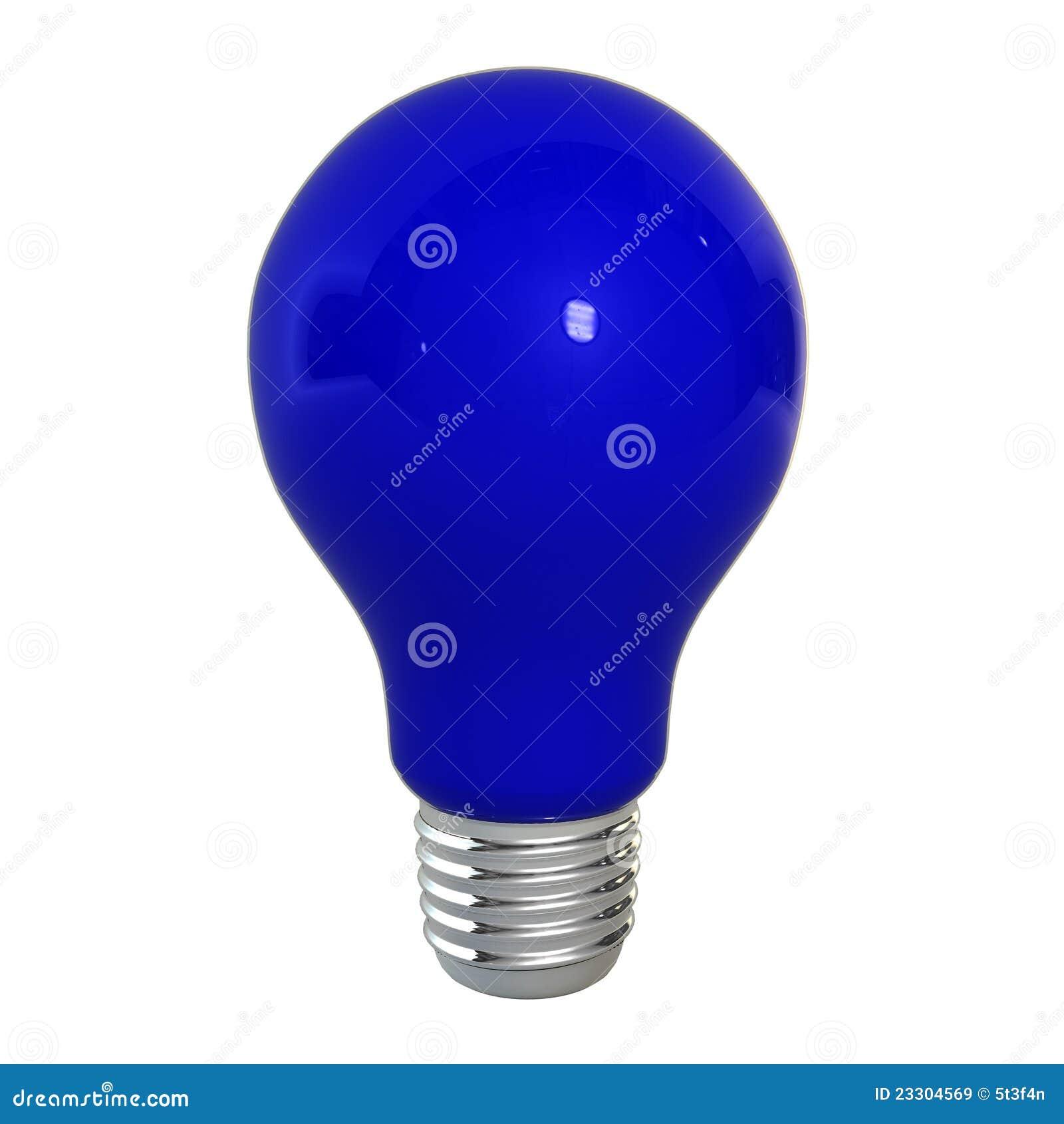 lampadina blu : Lampadina Blu Immagini Stock Libere da Diritti - Immagine: 23304569