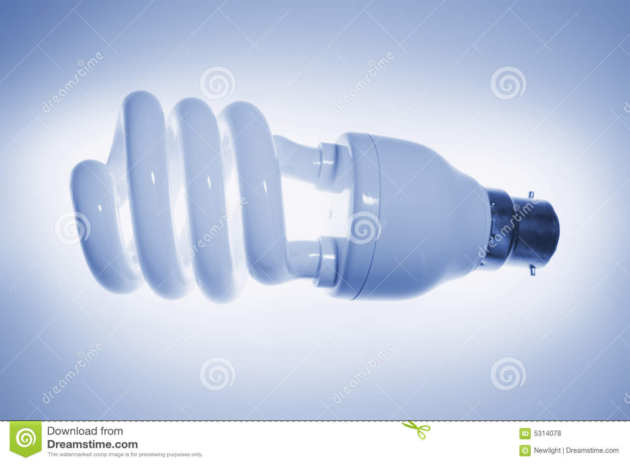 Download Lampadina fluorescente fotografia stock. Immagine di efficiente - 5314078
