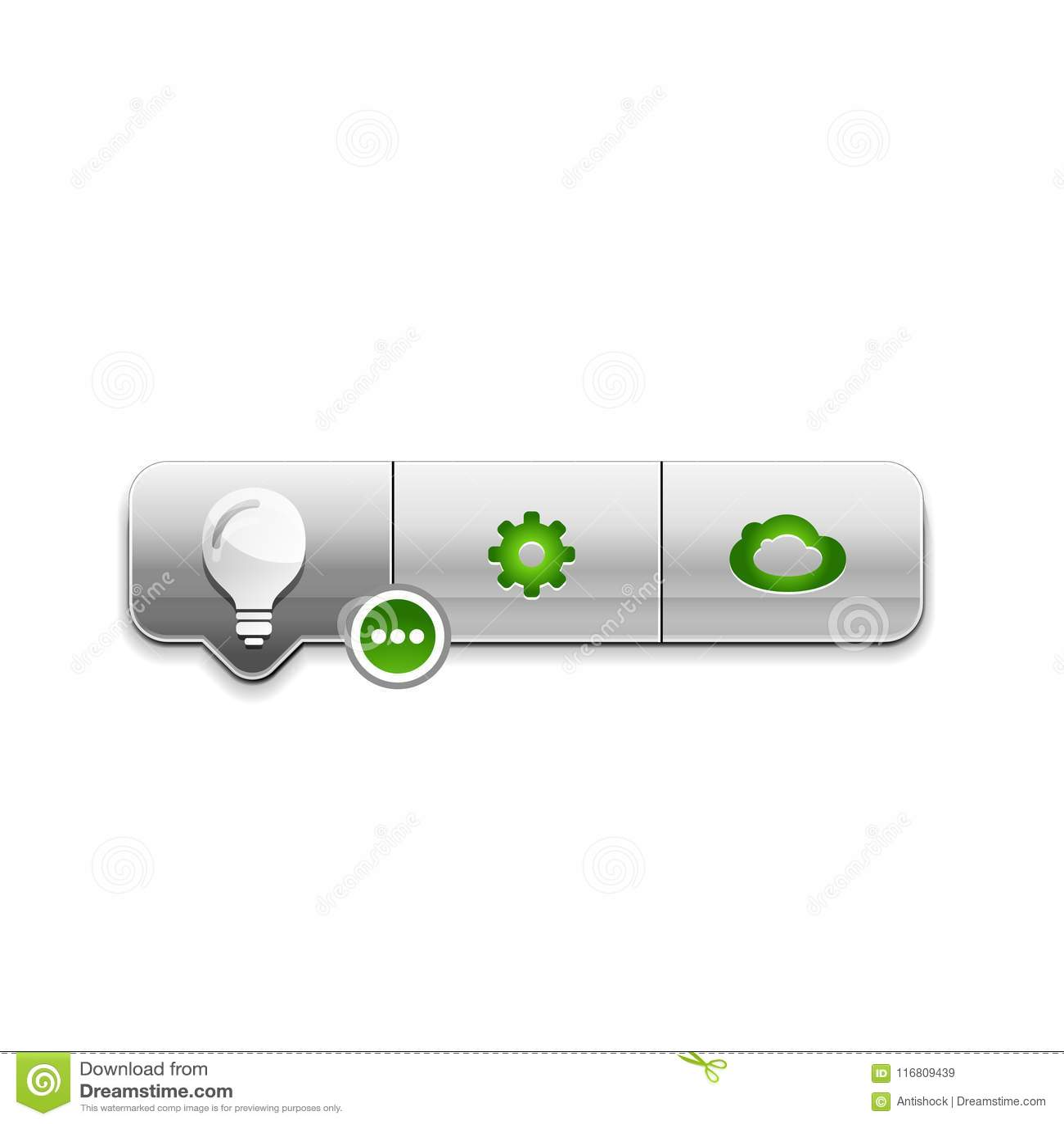 Lampadina, nuovo bottone di web di concetto di idea