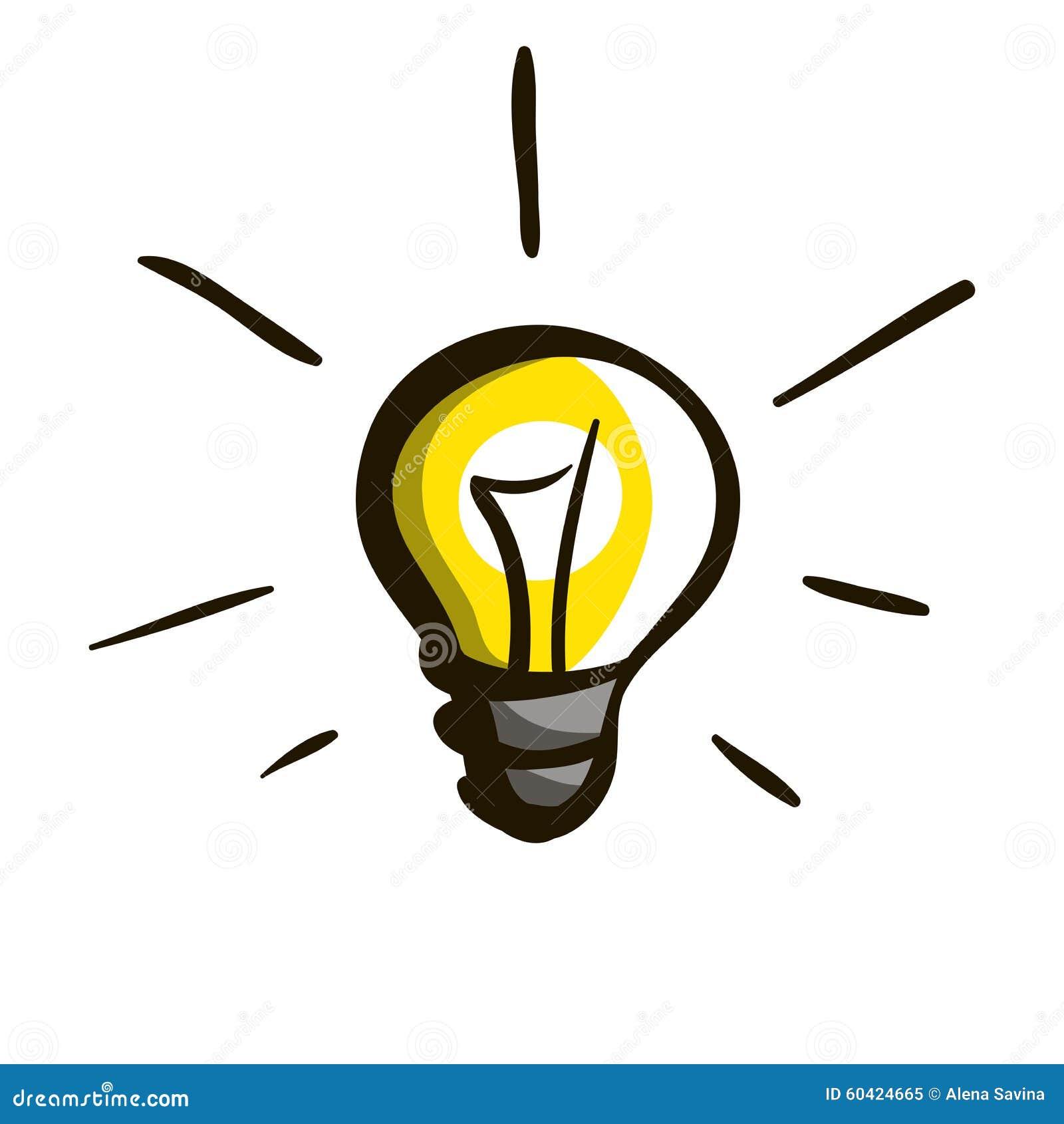 lampadina stilizzata 11 illustrazione vettoriale