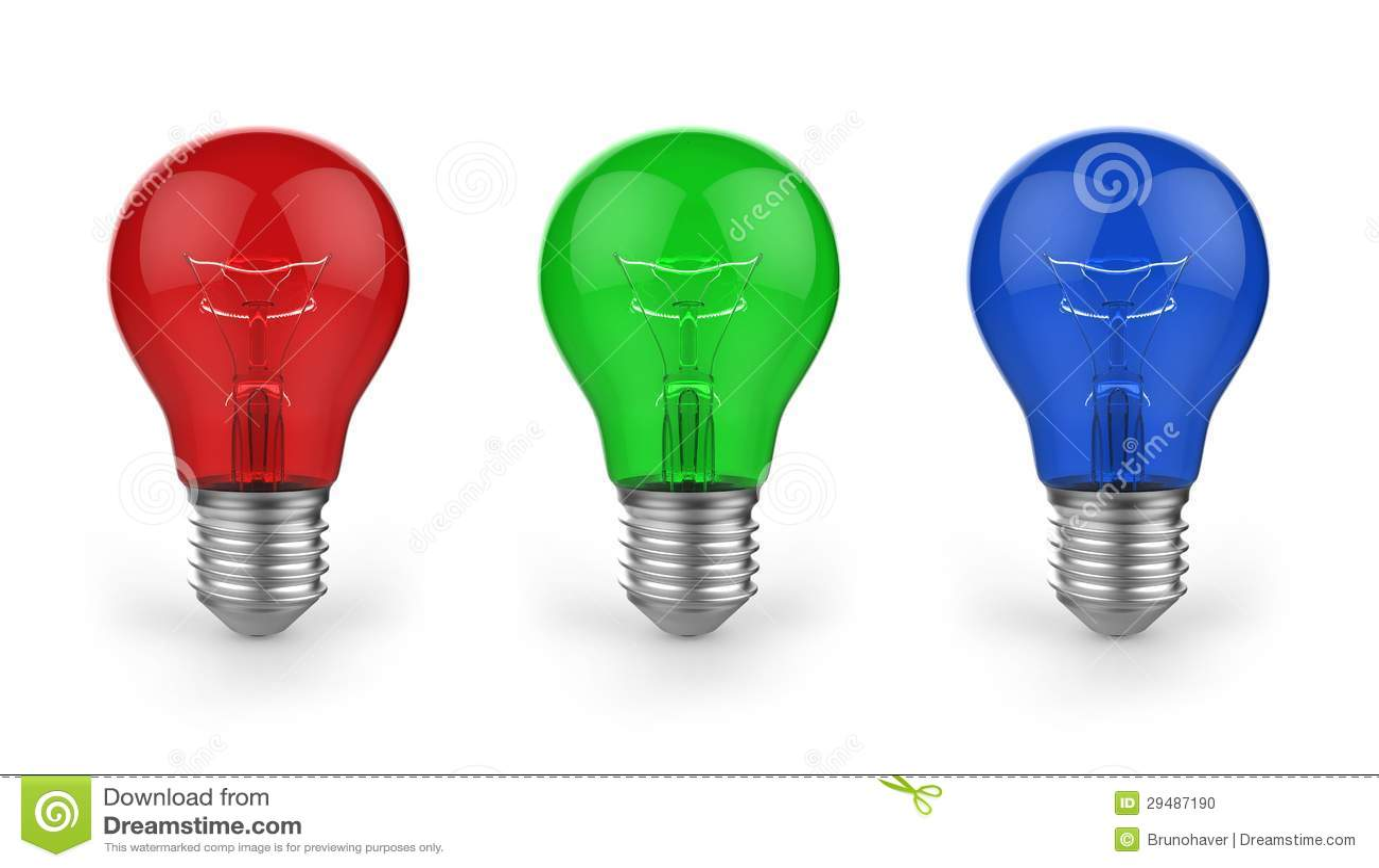 Lampadine Colorate Fotografia Stock - Immagine: 29487190