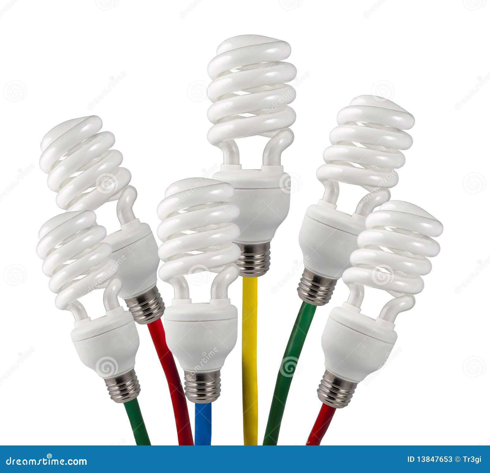 Lampadine di idee luminose con i cavi colorati fotografie - Le nuove lampadine ...