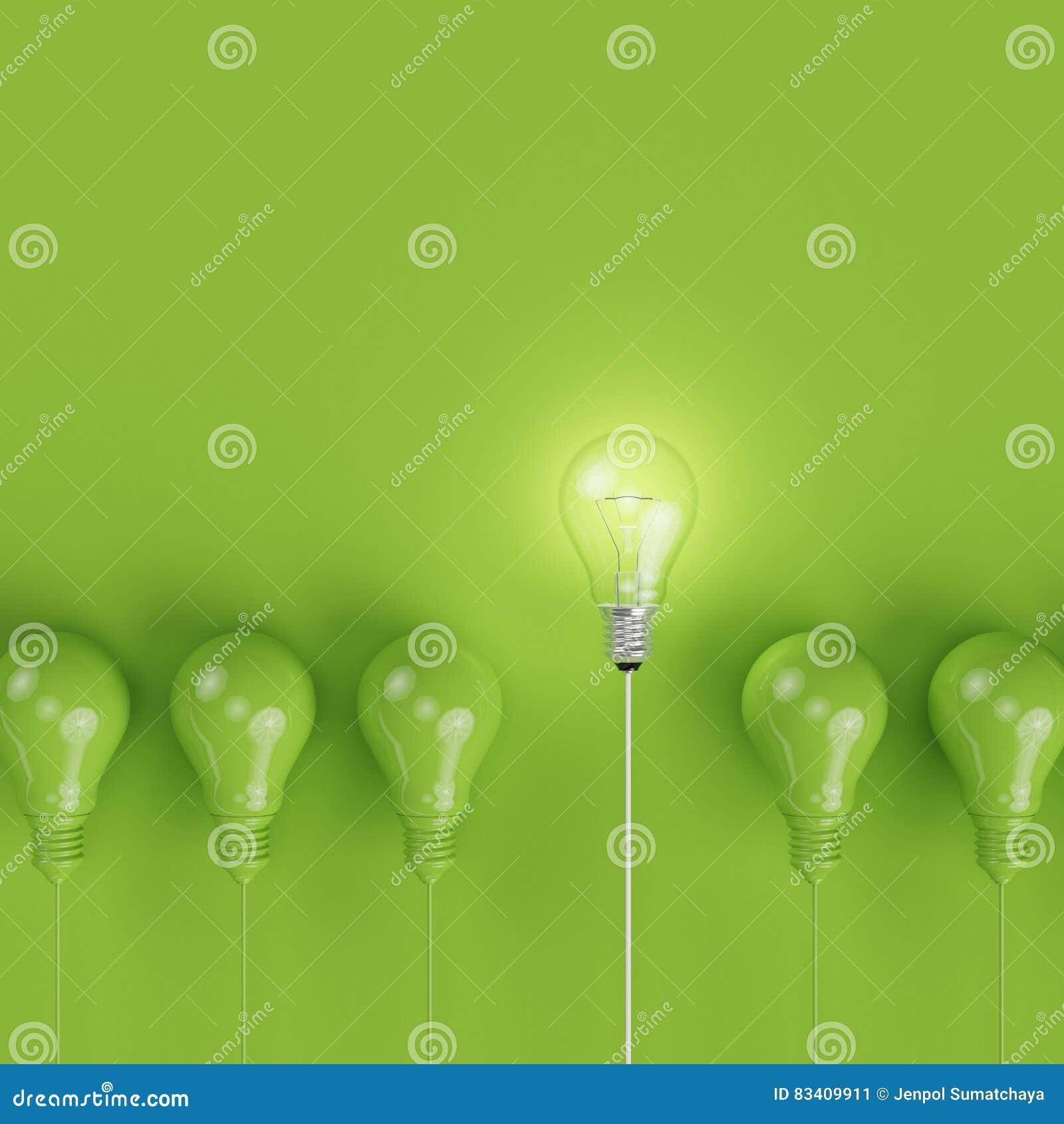 Lampadine Di Pantone Verde Con Che Emettono Luce Un Idea
