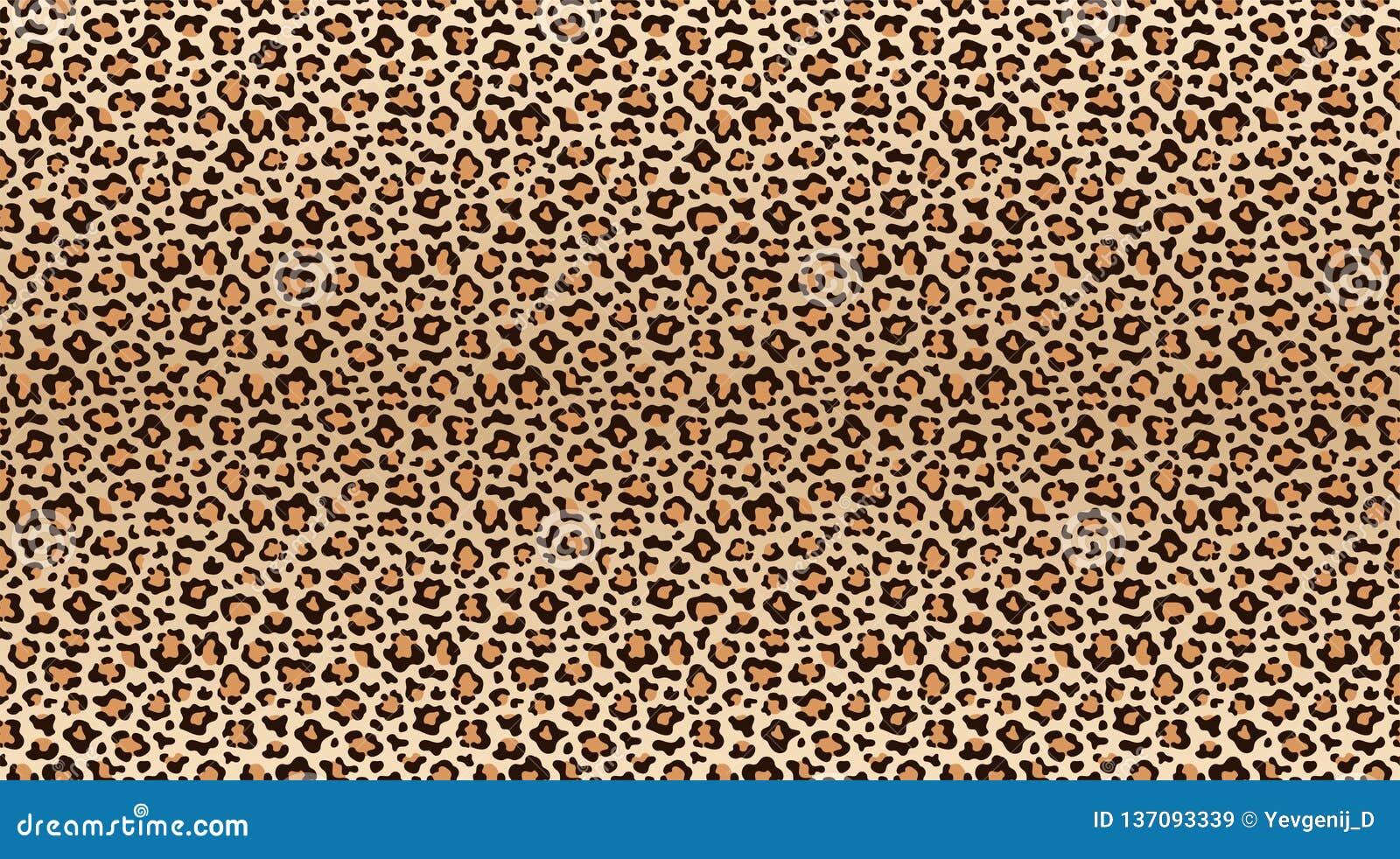 Lamparta druku wzór Bezszwowy wzór lampart skóra Modna geparda futerka tekstura