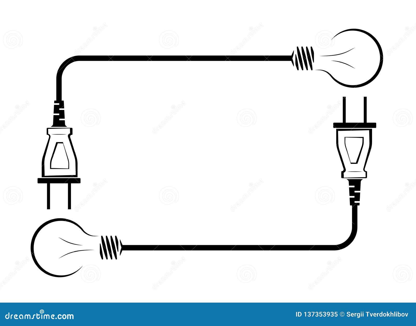 Cordon Electrique Pour Lampe lampe à incandescence électrique avec le fil et la prise