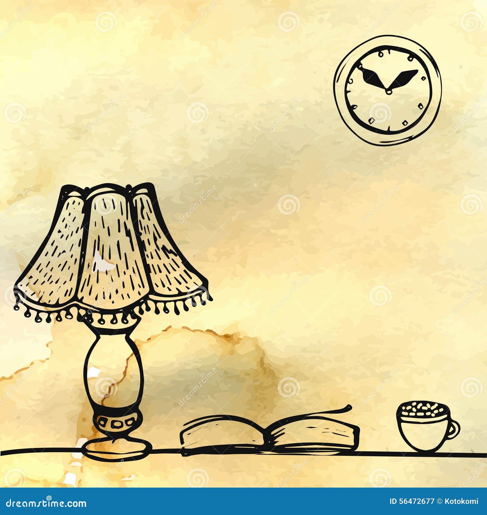 Tischlampe gezeichnet  Buch Tisch Stock Illustrationen, Vektors, & Klipart – (954 Stock ...