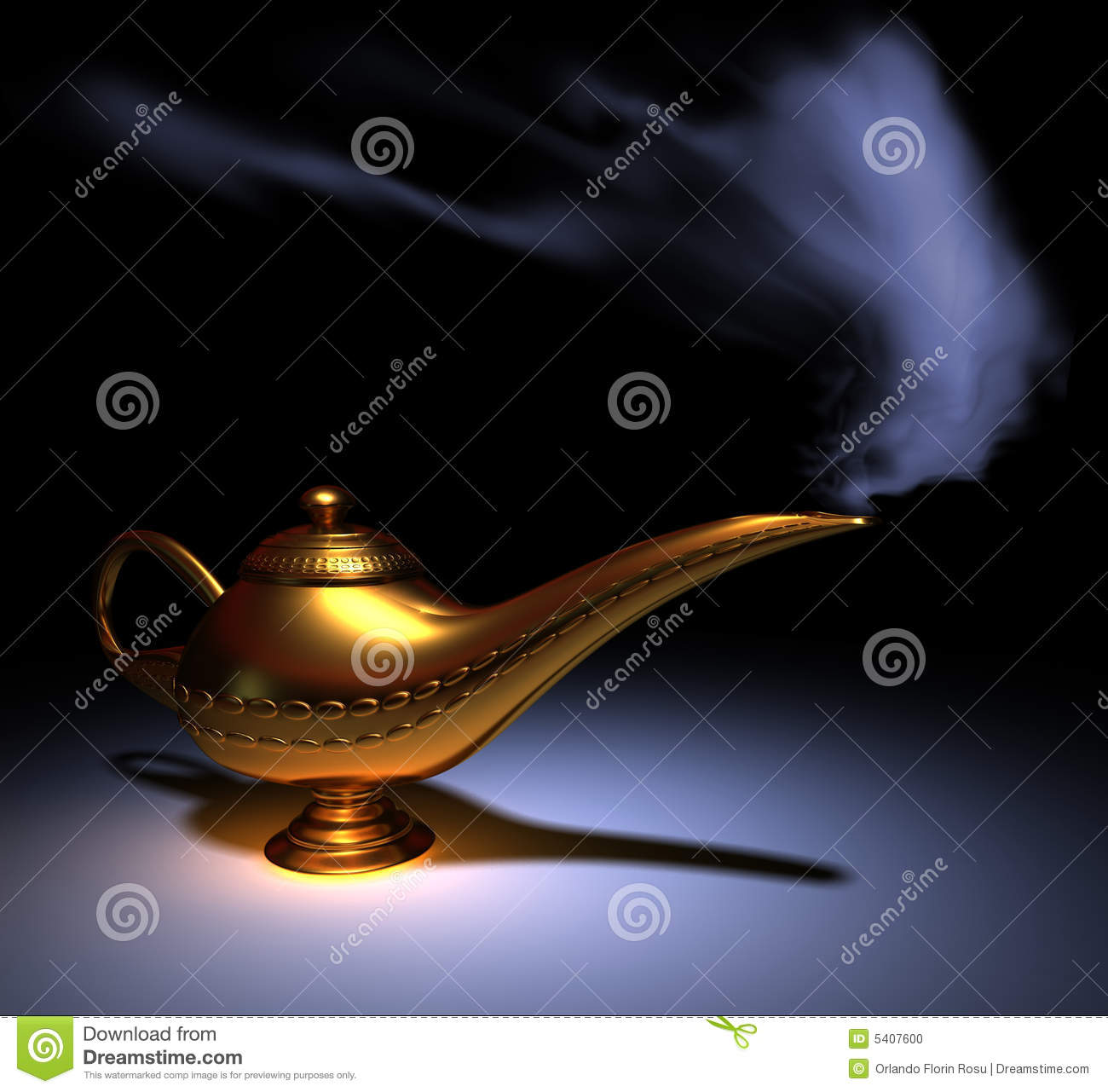 Lampe D Aladdin Illustration Stock Illustration Du Idees 5407600