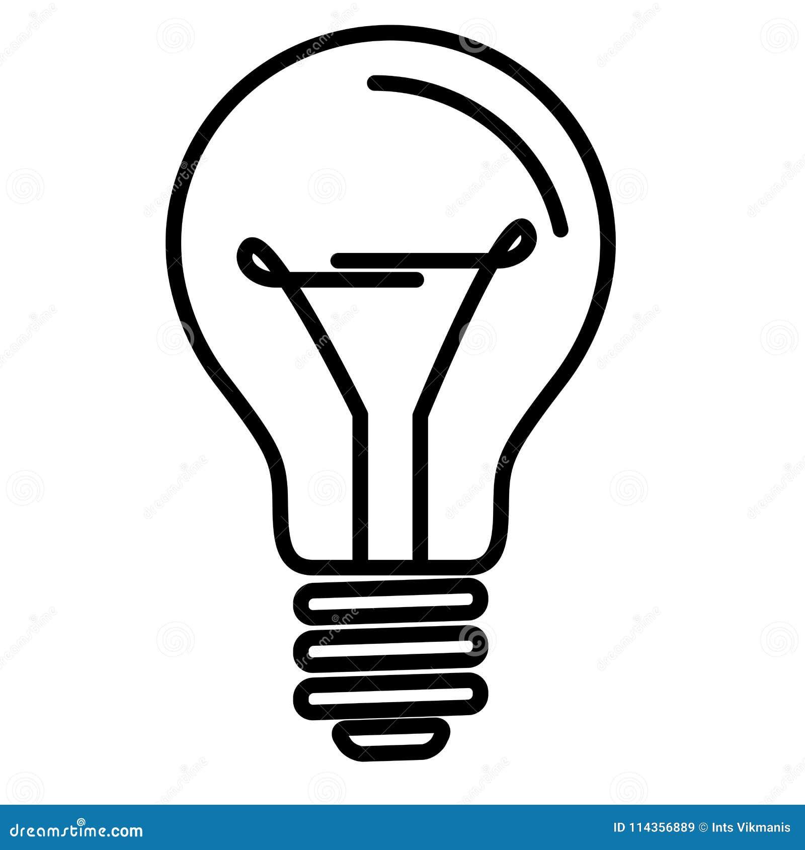 Ampoule Dessin lampe d'ampoule illustration de vecteur. illustration du dessin