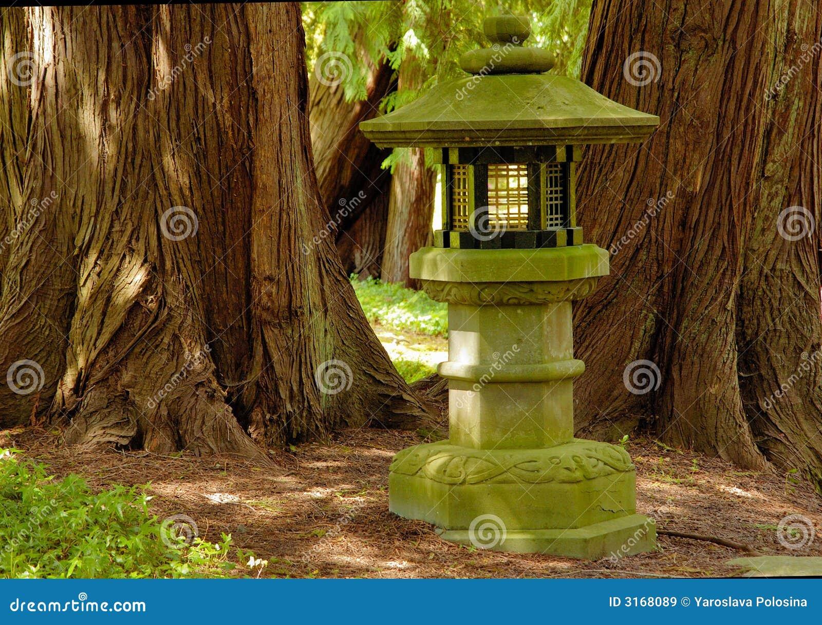 Lampe Dans Le Jardin Japonais Image Stock Image Du Exterieur