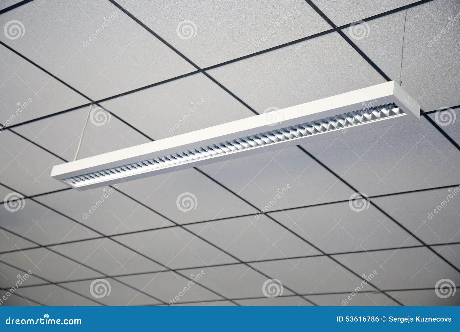 Lampe dans le plafond de bureau photo stock image 53616786 for Plafond de bureau