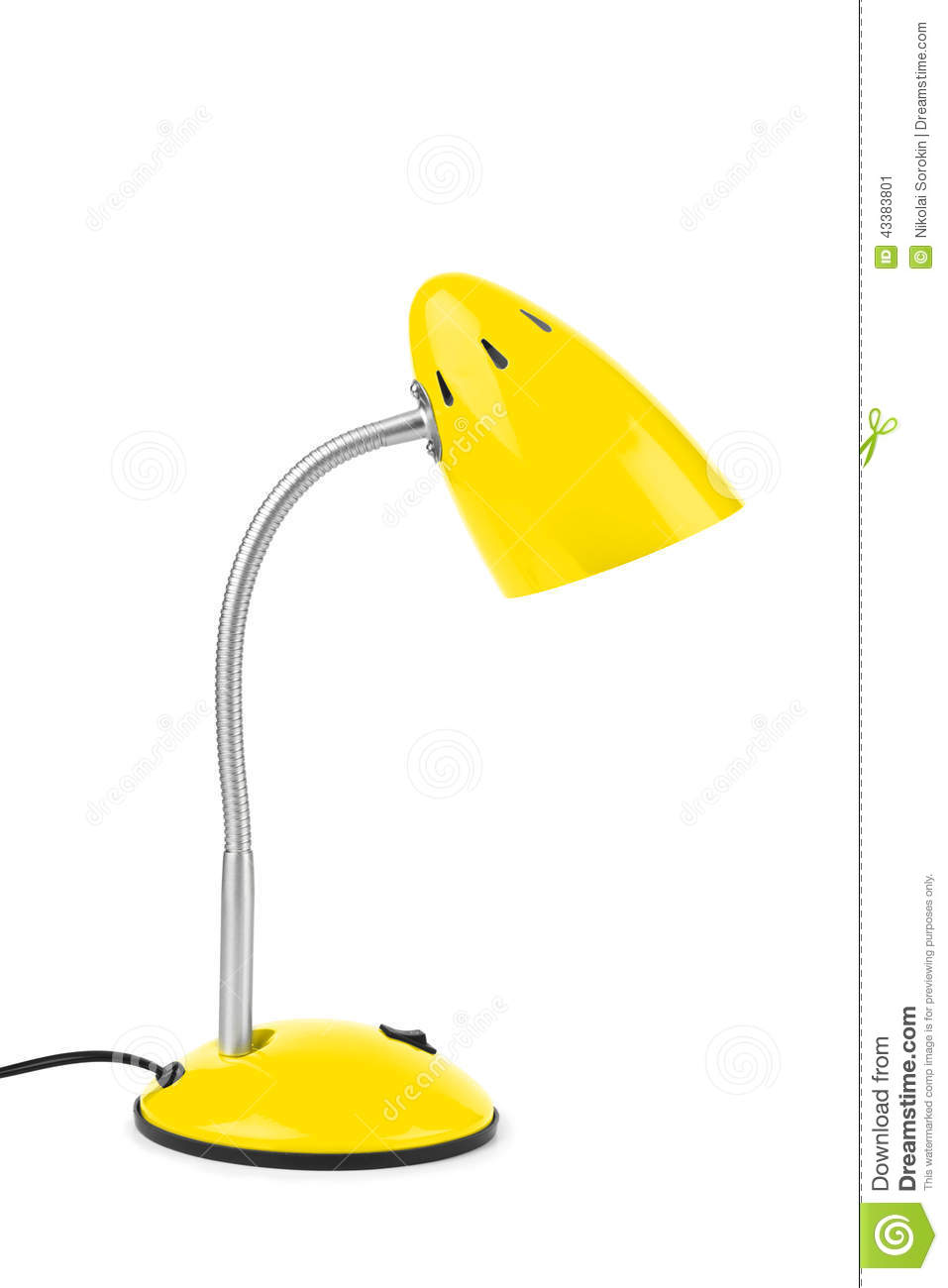 Lampe de bureau jaune photo stock image 43383801 for Lampe de bureau jaune