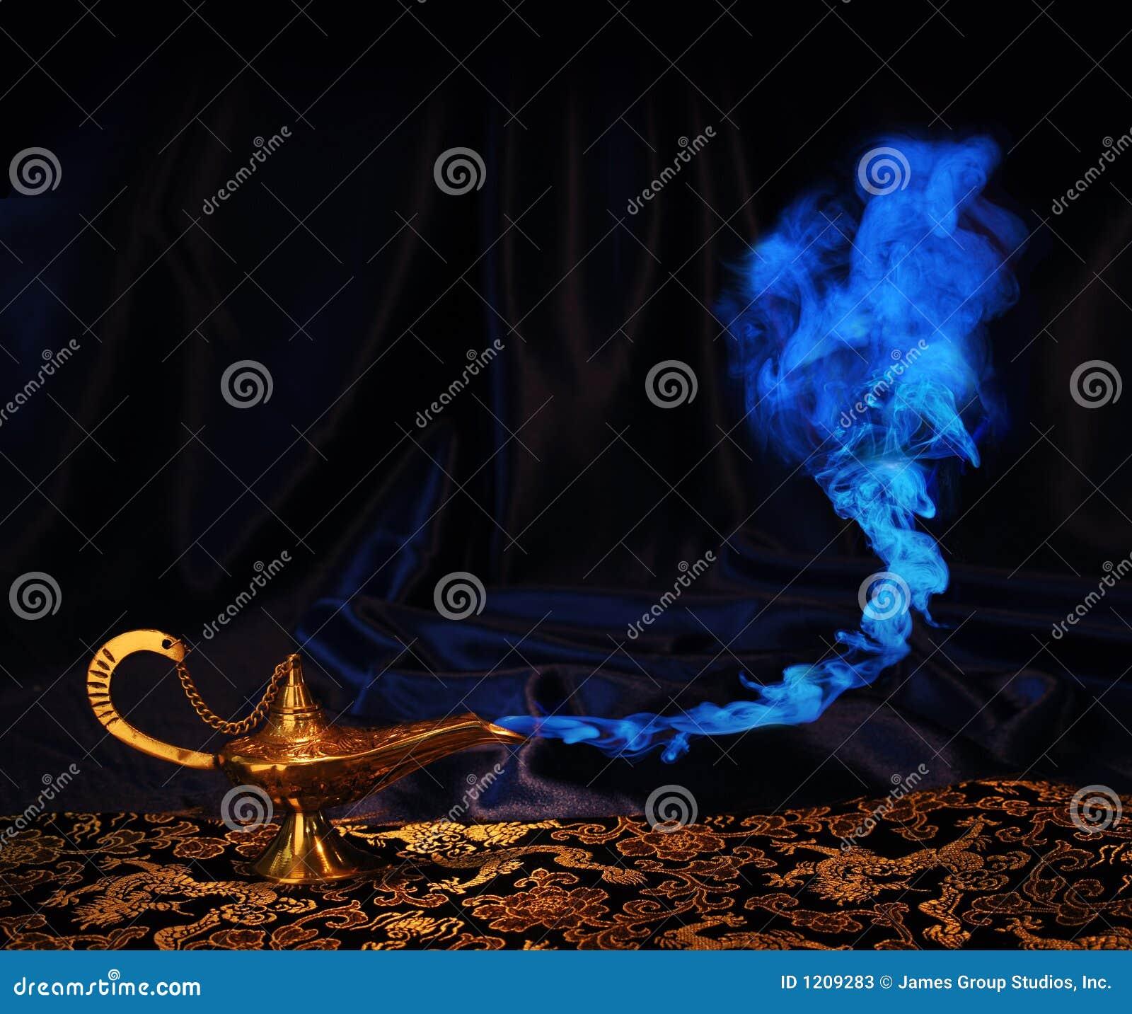 Lampe de génie d Aladdin - aucun génie