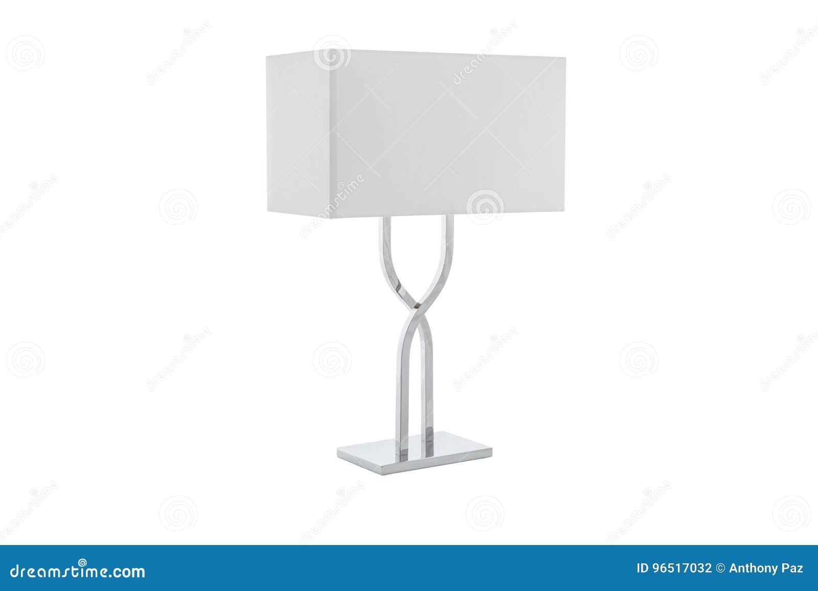 Lampe Blanc Table Moderne Photo Avec Abat Le De Jour Stock Petit Yb7y6vfg