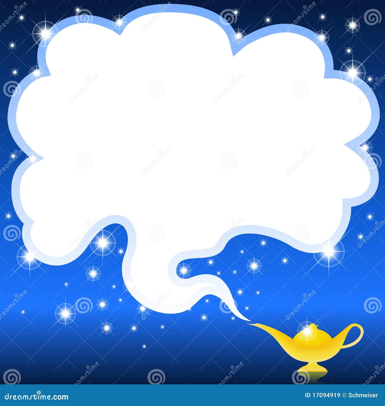 Lampe Magique De Genie Illustration De Vecteur Illustration Du Reve