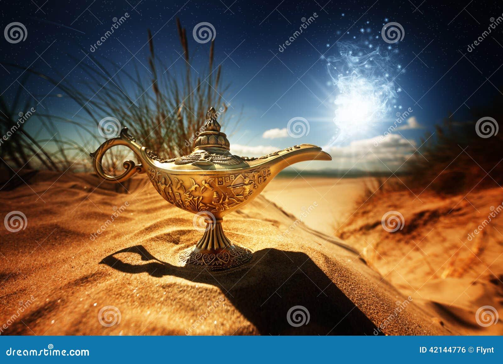 Lampe magique de génies d Aladdins