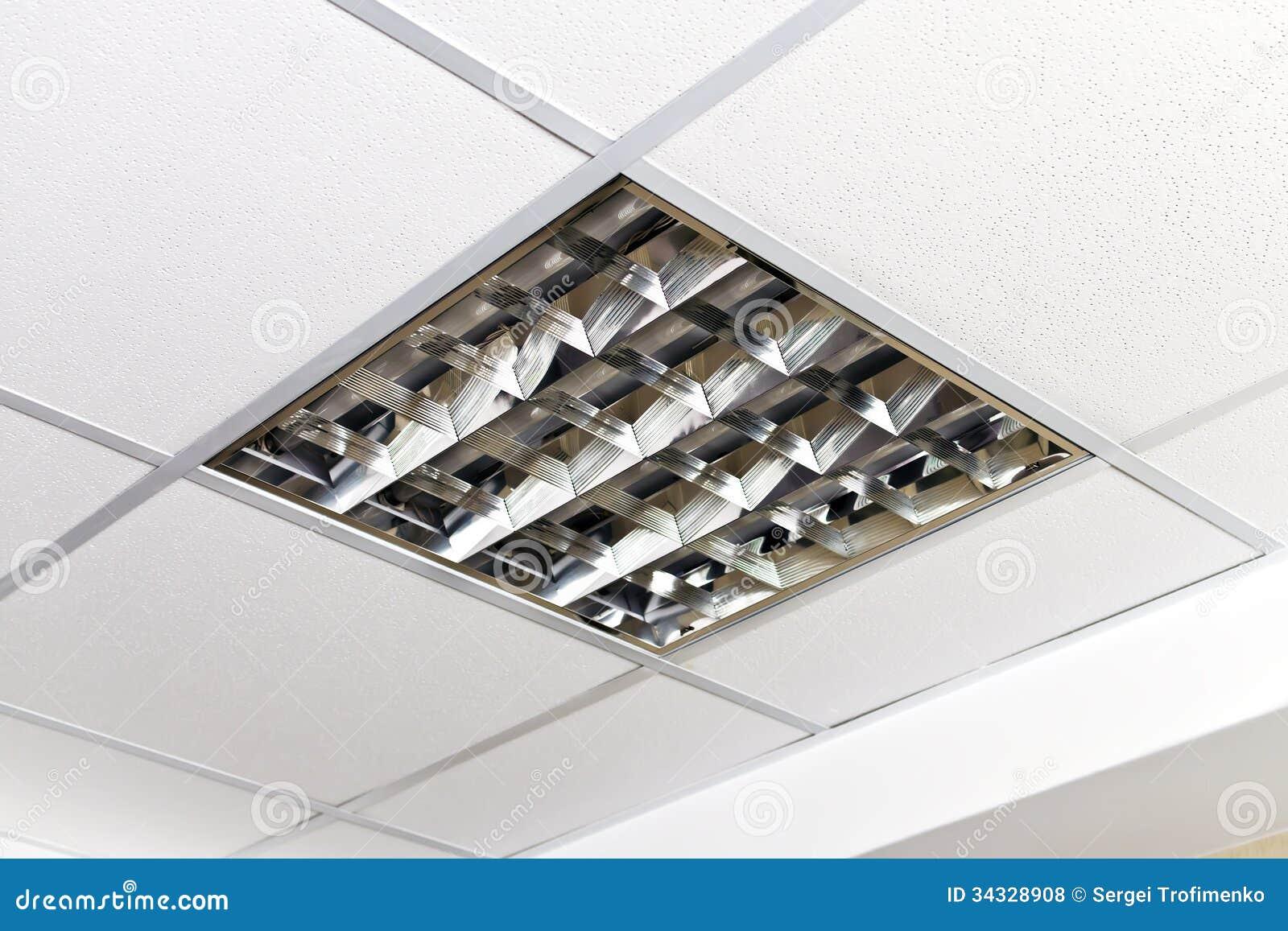 Lampe Moderne Sur Le Plafond Du Bureau Photo Stock Image Du Lampe
