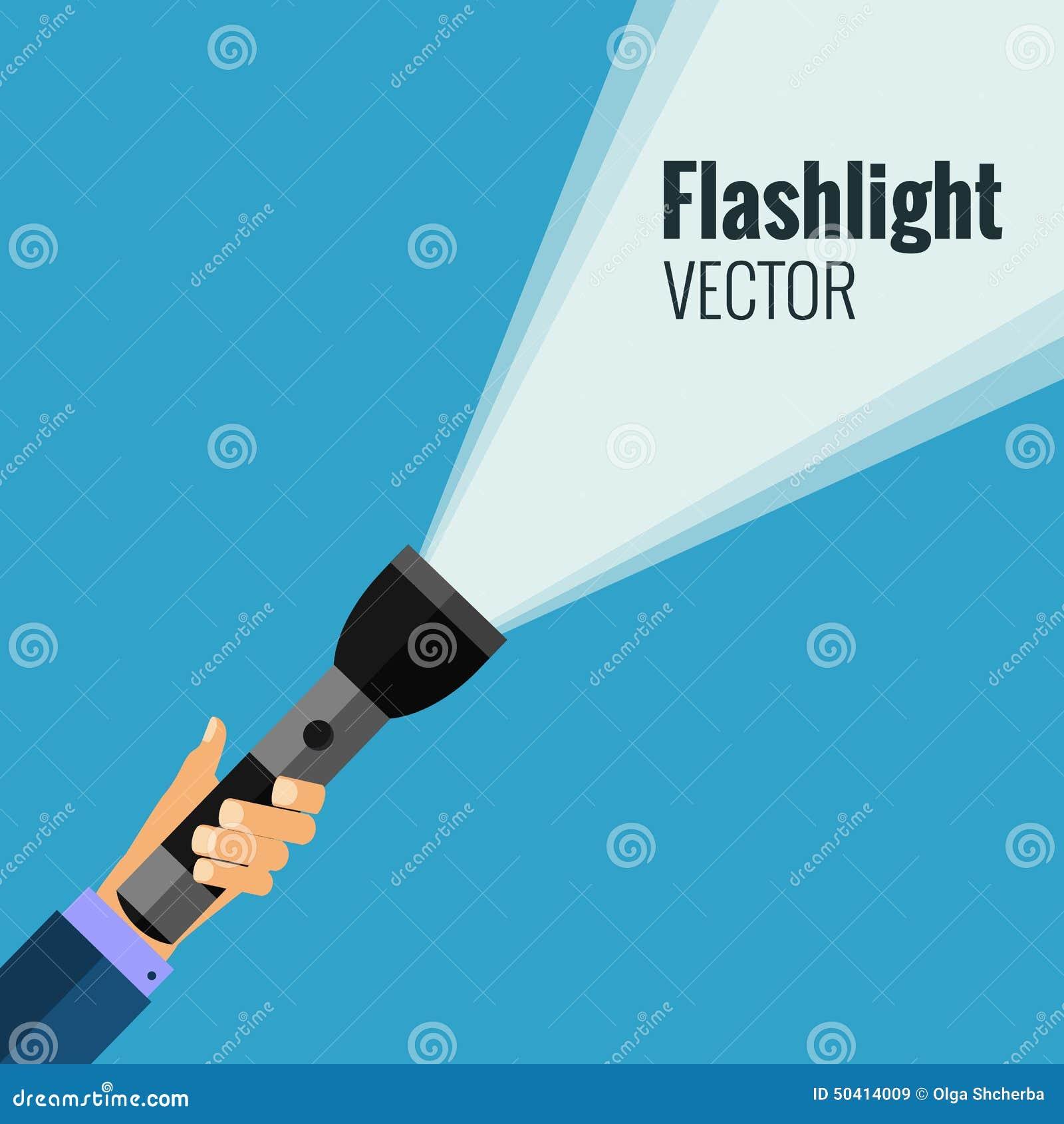 Lampe-torche plate