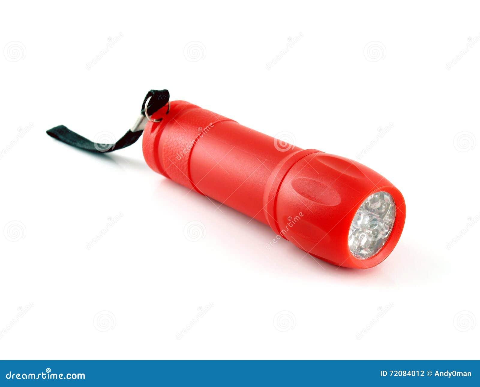 lampe torche rouge avec la lumi re de led photo stock image du lumi re urgence 72084012. Black Bedroom Furniture Sets. Home Design Ideas