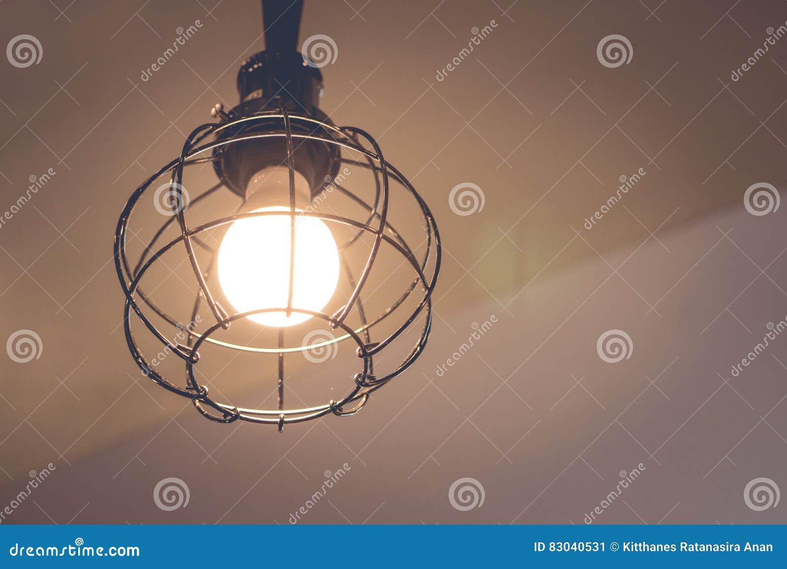Lampen Hangende Decke In Der Weinlese Art Stockbild Bild Von