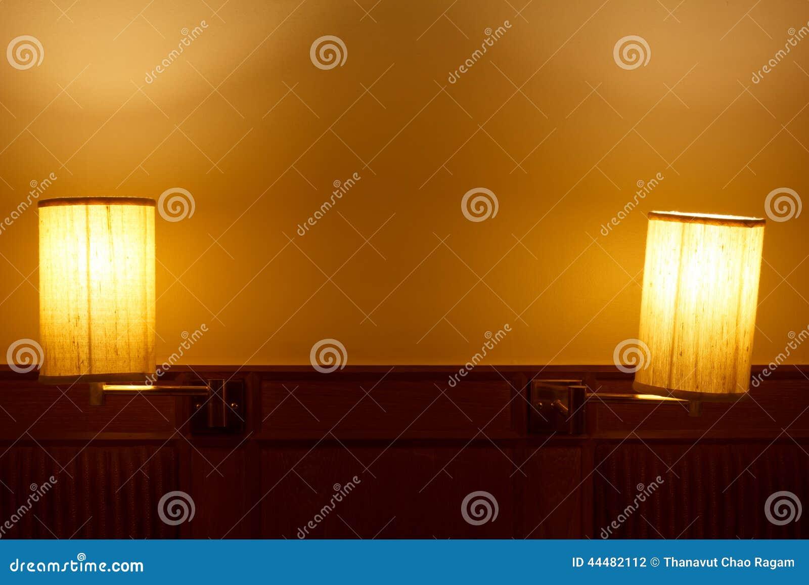 Lampen im Schlafzimmer stockfoto. Bild von bett, dekoration ...