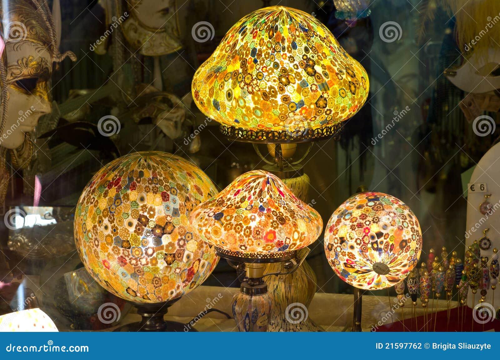 lampen van glas murano stock foto afbeelding bestaande. Black Bedroom Furniture Sets. Home Design Ideas