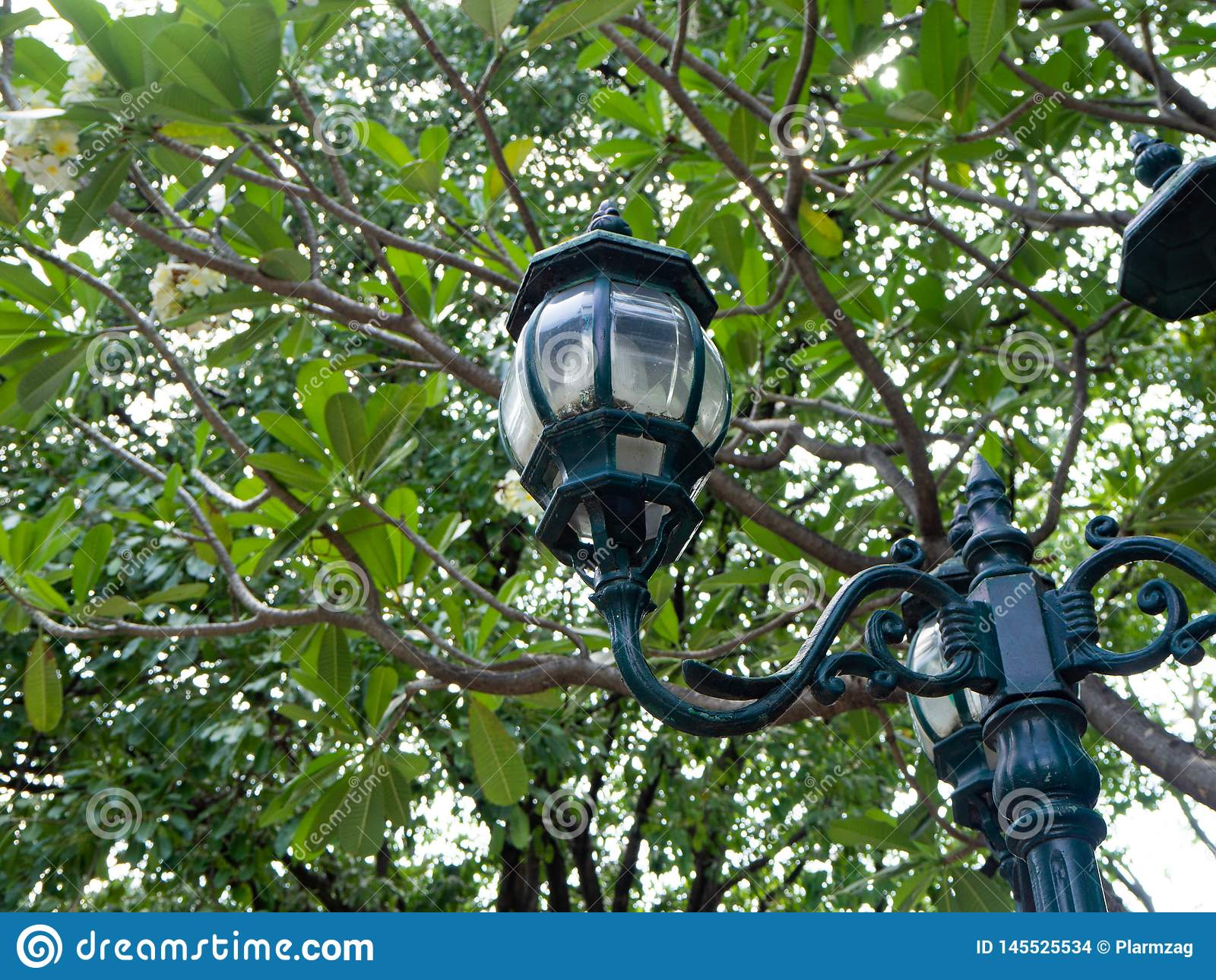 Lampenstraße in Prinzessin Mother Memorial Park, Bangkok, Thailand