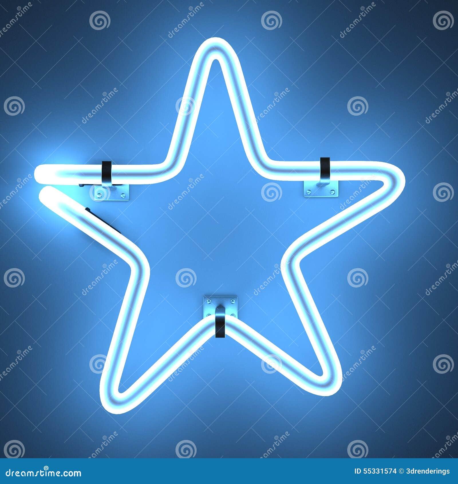 Lampes au néon - étoile