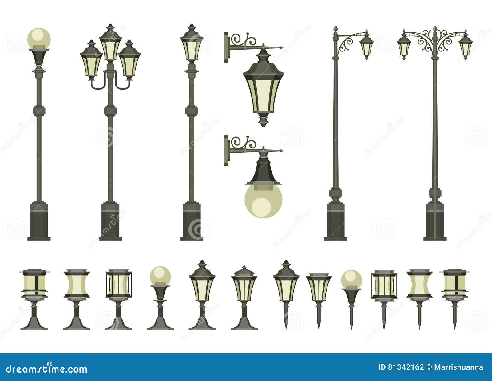 Lampor ställde in gatan